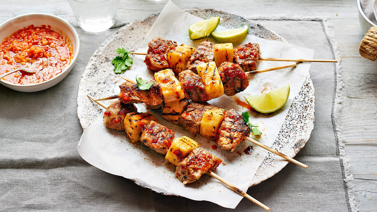 Pork with Pineapple Satay